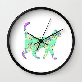 Pizza cat 22 Colorful Wall Clock
