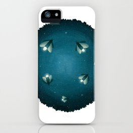Dreamscape #4 (or Lightning Bugs in the Night Sky) iPhone Case