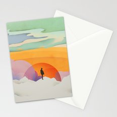 I Like to Watch the Sun Come Up - (White Version) Stationery Cards
