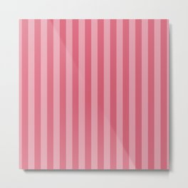 Large Nantucket Red Cabana Tent Stripes Metal Print