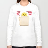 budi Long Sleeve T-shirts featuring Morning Breakfast by Picomodi