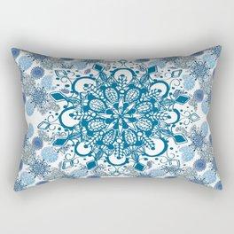Blue Rhapsody Patterned Mandalas Rectangular Pillow