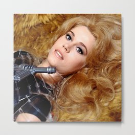 Beautiful Barbarella Metal Print