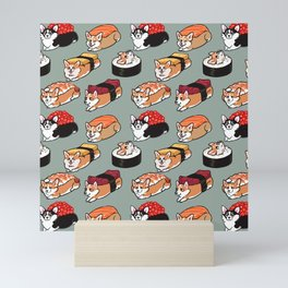 Sushi  Corgi Mini Art Print