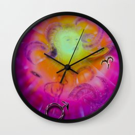 Zodiac sign Aries Happy Birthday Wall Clock