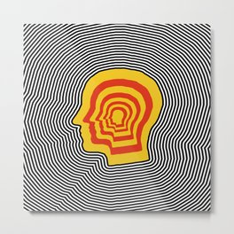 Trippy Tame Metal Print