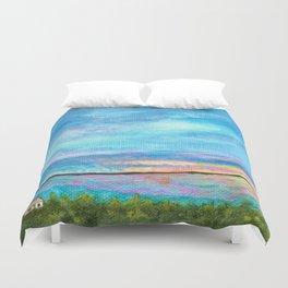 Good Morning, Beach House Sunrise Duvet Cover