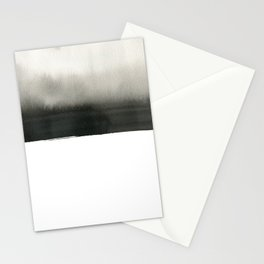 Landscape in white Stationery Cards