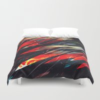 runner Duvet Covers featuring Blade runner by Kardiak