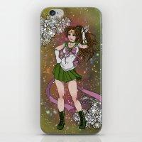 sailor jupiter iPhone & iPod Skins featuring Sailor Jupiter by Teo Hoble