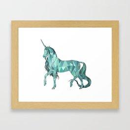 Unicorn prism Framed Art Print