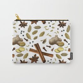 Chai Spices Pattern Carry-All Pouch