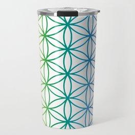 Flower Of Life Rainbow Sacred Geometry Travel Mug
