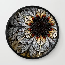 Flower II - Abstract Fractal Artwork Wall Clock