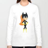 batgirl Long Sleeve T-shirts featuring Batgirl by Adrian Mentus
