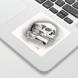 Skull & Rose Sticker