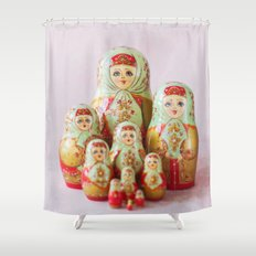Matryoshka Shower Curtain