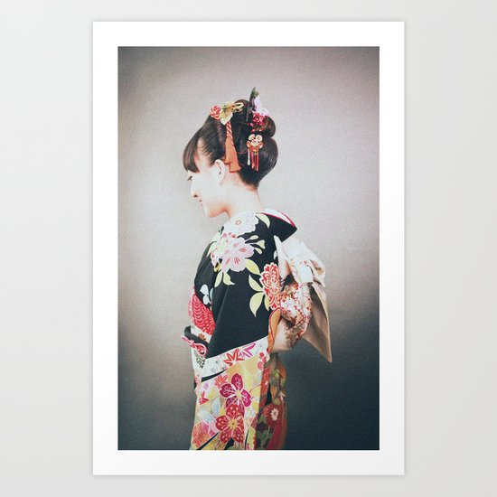 Woman japanese style Art Print