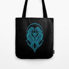 Blue Gemini Zodiac Sign in the Stars Tote Bag