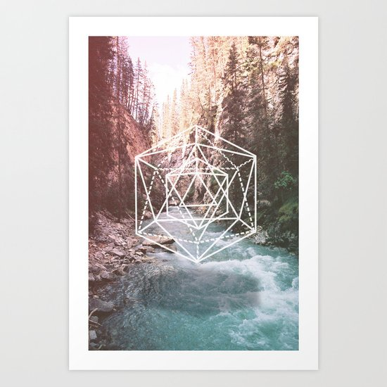 River Triangulation Art Print
