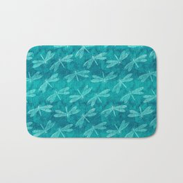 Dragonfly Dance Blue Green Bath Mat