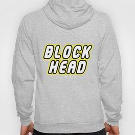 BLOCK HEAD in Brick Font Logo Design by Chillee Wilson Hoody
