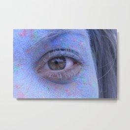 Powder Paint Portrait Metal Print