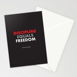 """Discipline Equals Freedom"" Jocko Willink Stationery Cards"