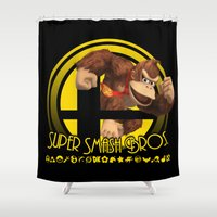 donkey kong Shower Curtains featuring Donkey Kong - Super Smash Bros. by Donkey Inferno
