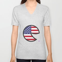 USA Smile Unisex V-Neck