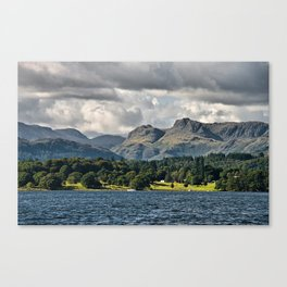 The Langdale Hills from Windermere, Lake District Canvas Print