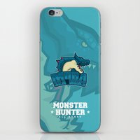 monster hunter iPhone & iPod Skins featuring Monster Hunter All Stars - Moga Sea Dogs by Bleached ink