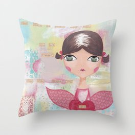Kind hearted Throw Pillow