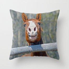 Horse Humour Throw Pillow