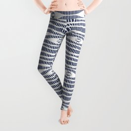 Indigo Pattern - Indigo / Navy & White Leggings