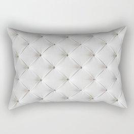 White Tufted Rectangular Pillow