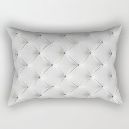 White Tufted Rectangular Pillow