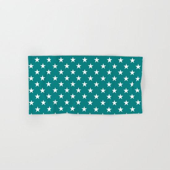 Stars (White/Teal) Hand & Bath Towel