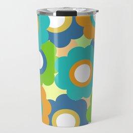 Retro Vintage Bundle of Flowers - Turquoise 2 Travel Mug