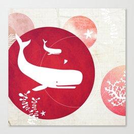 Ocean Series - Mama Whale Canvas Print
