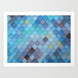 Blue Tiles (Color) Art Print