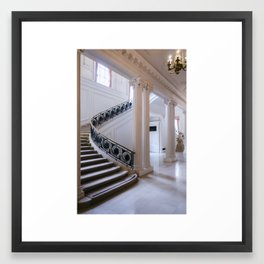 In White Framed Art Print