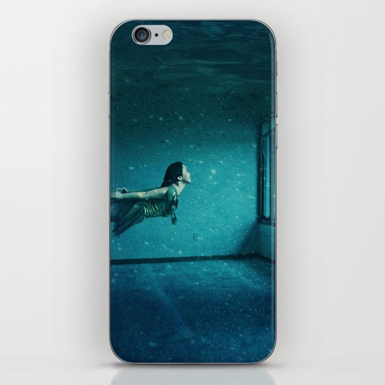 swimming girl iPhone & iPod Skin