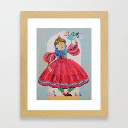 Qajar princess Framed Art Print