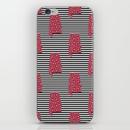 Alabama state silhouette stripes university of alabama crimson tide floral college football gifts iPhone Skin