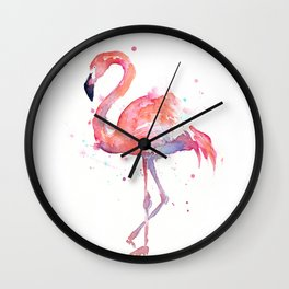Flamingo Watercolor Wall Clock