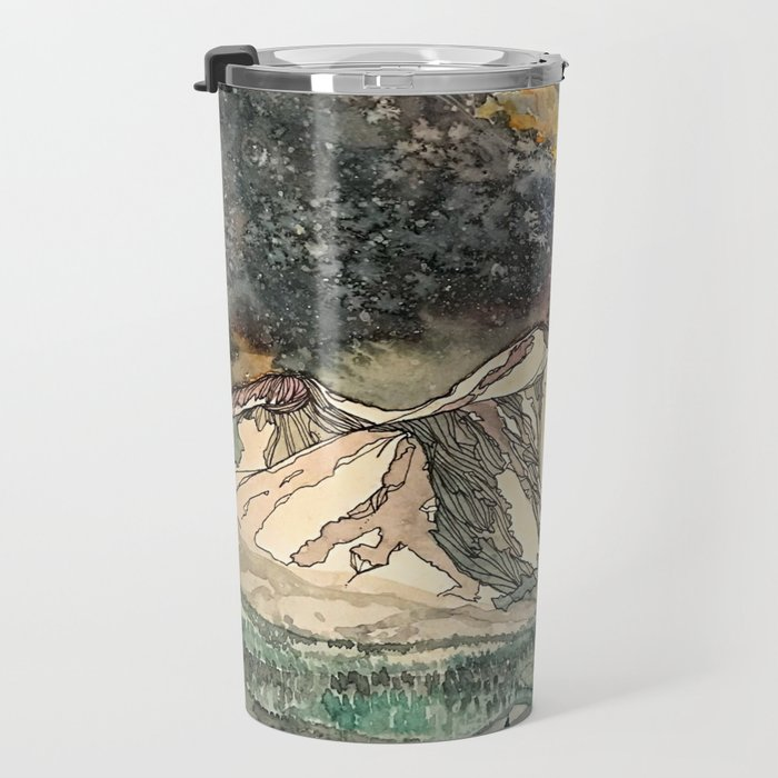 Mount Sopris and the Galaxy Travel Mug