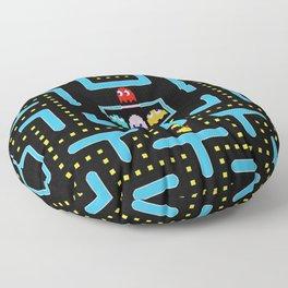 pac-man blue Floor Pillow