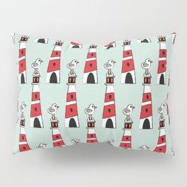 light-house aqua Pillow Sham