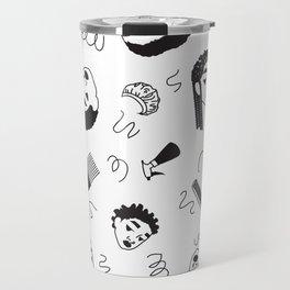 Curl Pattern Travel Mug